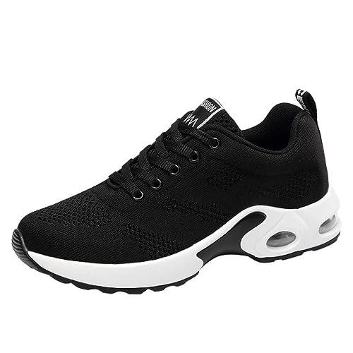 Zapatillas Deportivas Cuna Mujer Casuales,Calzado Transpirable Volando Zapatos Deportivos Tejidos Casual Zapatos de Malla de Estudiante de Zapato: ...