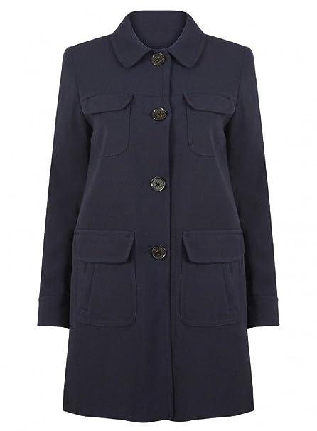 EX Next-Abrigo de Primavera, Azul Marino para Mujer, Talla 36