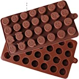 sincook 28-cavity QQ Expression DIY Candy Baking Chocolate Cake Ice Jelly Pudding silicone Molds by sincook