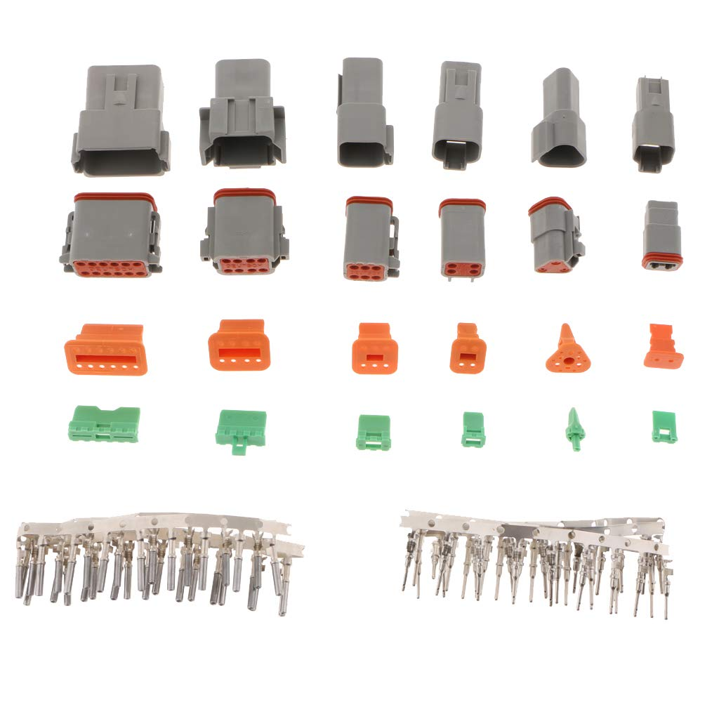 Flameer Deutsch DT Series Connector Kit Gray Environmentally Sealed Automotive Electrical Connectors 22-16 Gauge