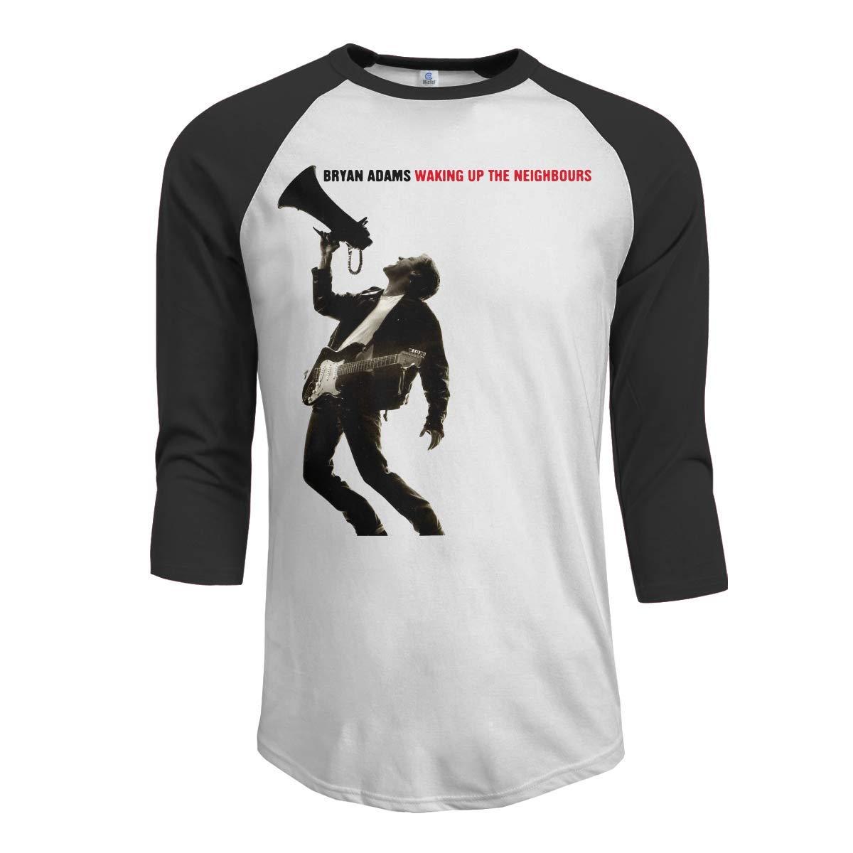 YANNAN Mens Bryan Adams Waking Up The Neighbours 3//4 Sleeve Raglan Baseball T-Shirt Black