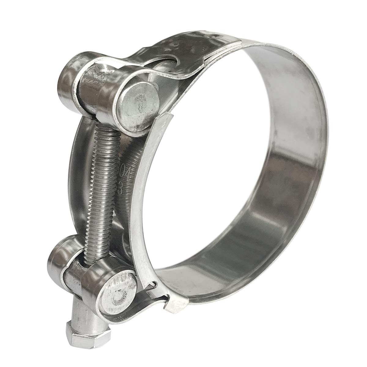 YUEPIN 2 Pcs T-Bolt Hose Clamp 304 Stainless Steel Tube Clamp 1.26-1.37//32-35mm