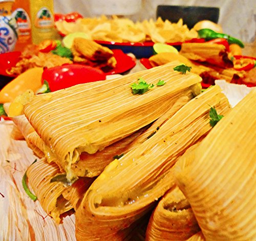One Half-Dozen (6) Gourmet Jalapeno and Cheese (Four Cheese) Tamales by Texas Lone star Tamales