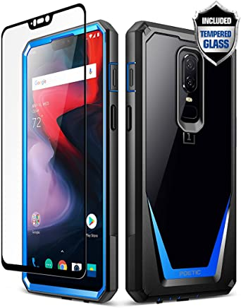 detailed look 60ae3 3e8b9 Poetic OnePlus 6 Case, Guardian [Scratch Resistant] [360 Degree Protection]  Full-Body Rugged Clear Bumper Case [With Tempered Glass] for OnePlus 6 ...