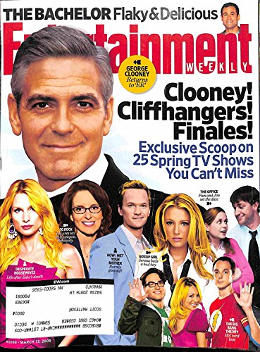 Entertainment Weekly March 13 2009 George Clooney! Cliffhangers! Finales! (#1038)