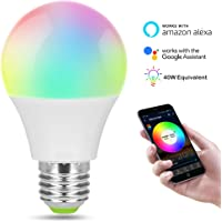 SMART Wifi ampoule LED réglable Multicolore intensité variable Fonctionne avec Apple Homekit Alexa et l'assistant de Google