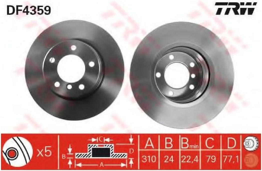 TRW Automotive AfterMarket DF4359 Bremsscheibe Paar