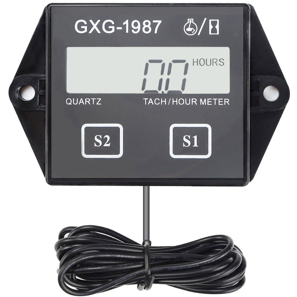 Gxg 1987 Digital Hour Meter Tachometer Tach Tacho For Sun Wiring Engine Yamaha Honda Kawasaki Bmw Automotive