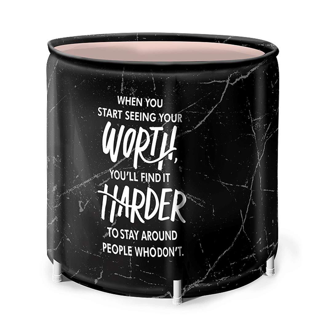 YONGYONG Adult Household Bath Barrel Folding Tub Thickening Bath Barrel 65cm*70cm (Color : C, Size : 65CM*70CM)