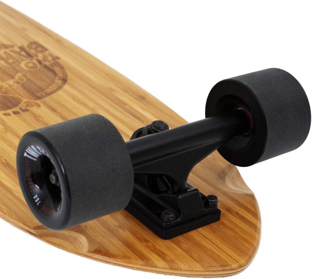 Two Bare Feet The Buddy 32 Pollici Bamboo Series Premium PRO Skateboard Cruiser Completo