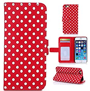 6S Plus Case,6S Plus Cases,iPhone 6S Plus Case wallet,Kaseberry Premium PU lather Flip Folio Book Style Wallet Protective Skin Pouch Case for iPhone 6S Plus 5.5,Hot Pink
