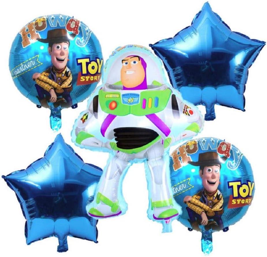 Amazon.com: Globos de fiesta de cumpleaños de Toy Story, 6 ...