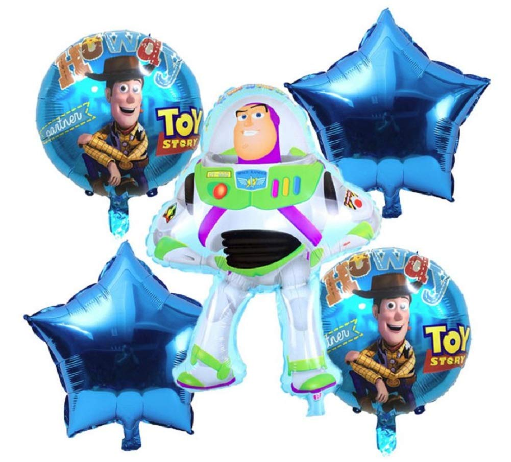 Awesome Toy Story Birthday Party Balloons 6 Piece Kids Balloon Decorations Buzz Lightyear Woody 2 Round 2 Download Free Architecture Designs Scobabritishbridgeorg