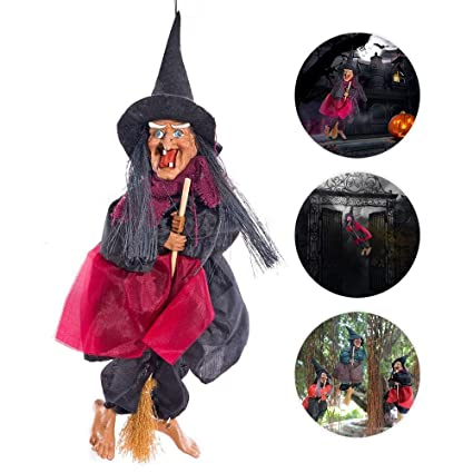 Wicked Witch Doll, Voice & Touch Control Halloween Witch