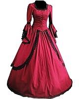 Partiss Women Lace Floor-length Gothic Victorian Lolita Dress
