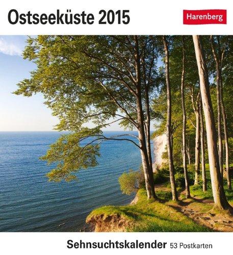 Ostseeküste Sehnsuchtskalender 2015: Sehnsuchtskalender, 53 Postkarten