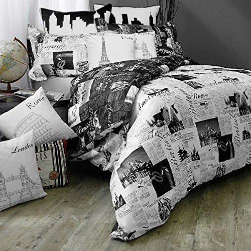 Alicia Lynn Peters Bed.lam Passport London and Paris Standard-Queen Pillow (Paris Standard Sham)