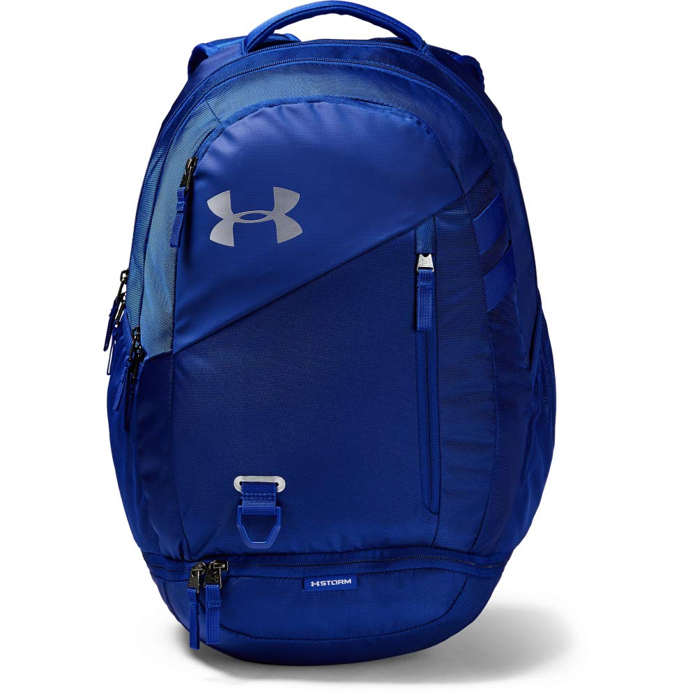 Under Armour Hustle 4.0 Backpack, Royal (400)/Silver, One Size Fits All by Under Armour
