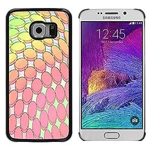 Be Good Phone Accessory // Dura Cáscara cubierta Protectora Caso Carcasa Funda de Protección para Samsung Galaxy S6 EDGE SM-G925 // Modern Computer Art Wallpaper Pink Yellow