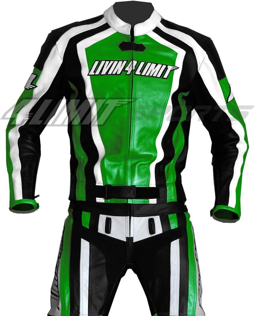 Verde//Nero//Bianco Taglia XL 4Limit Sports Tuta Moto
