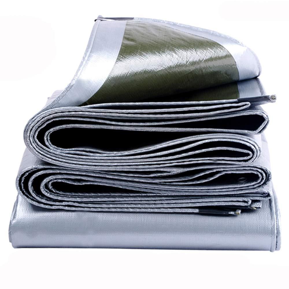 LJFPB Toldo Impermeable Tela Impermeable Lona de Engrosamiento Lona pl/ástica de PE Impermeable protecci/ón UV Jardin al Aire Libre Tama/ño : 2x1m 200g m/² 0.25mm