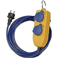Brennenstuhl Verlengkabel met 4-voudige verdeler (5m stroomkabel in blauw voor kortstondig gebruik buitenshuis, IP54…