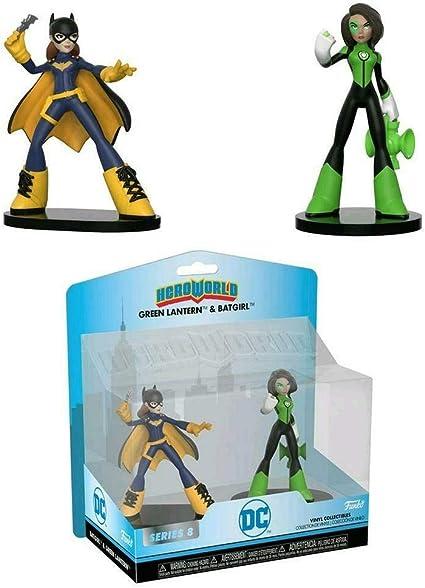 Green Lantern 2 Pack Hero World Batgirl FunKo Free Shipping! DC Comics