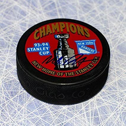 4b44111049b Mike Richter New York Rangers Autographed 1994 Stanley Cup Puck -  Autographed Hockey Pucks
