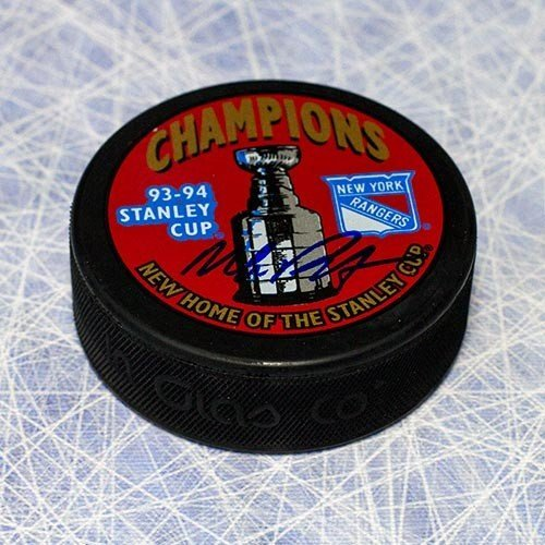 Mike Richter New York Rangers Autographed 1994 Stanley Cup Puck - Autographed Hockey Pucks from Sports Collectibles Online