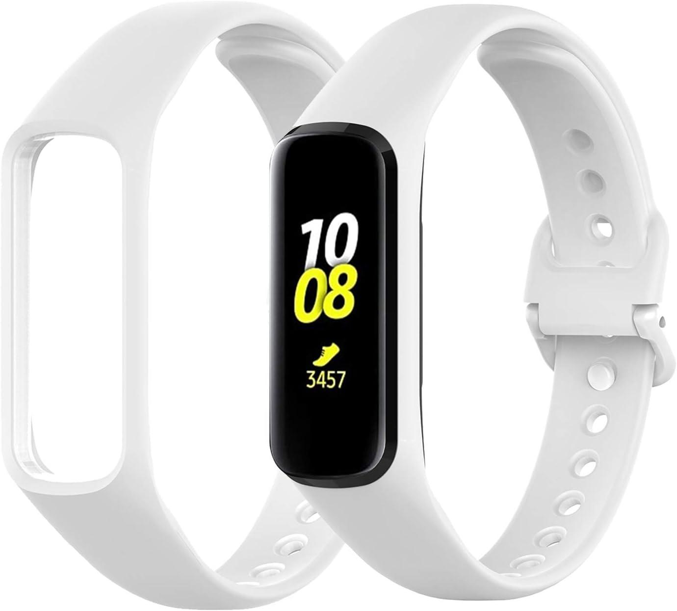 Malla silicona Samsung Galaxy Fit 2 blanca 1 pack
