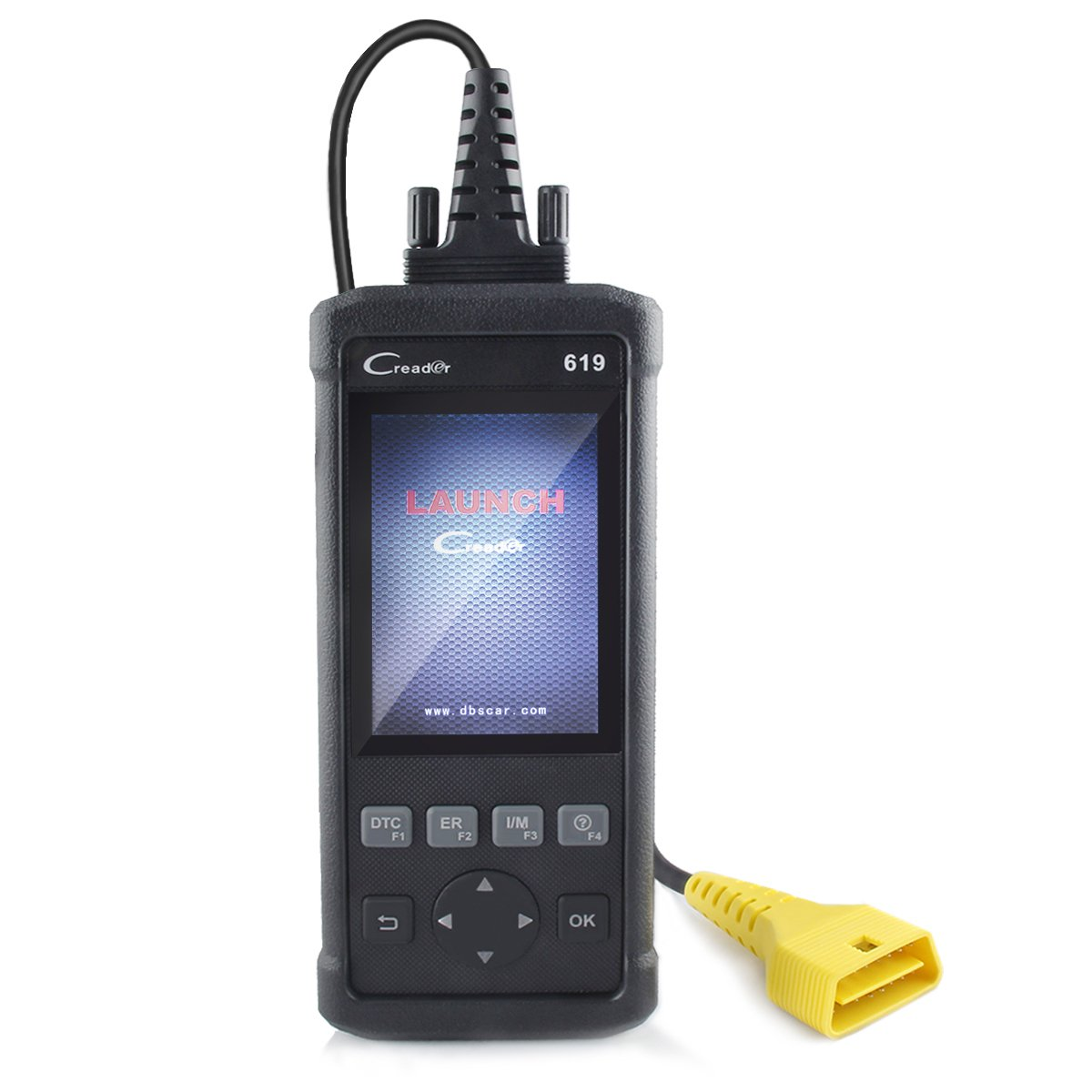 Launch CR619 Car Diagnostic Tool OBDII Code Reader ABS SRS Check Engine/O2 Sensor Test/On-board Monitor Test Quick Clear DTCs/Query Freeze Frame Data/Read Dynamic Datastream