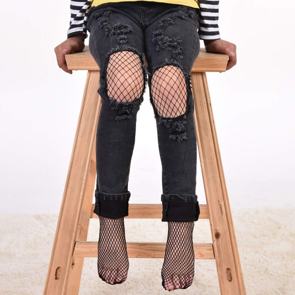 MB-LANHUA Girls Stockings Girls Fashion Mesh Stockings Kids Baby Fishnet Stockings Black Pantyhose Tights B#