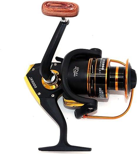 NUZAMAS Carretes de Pesca AF6000: 12 + 1 rodamientos de Bolas ...