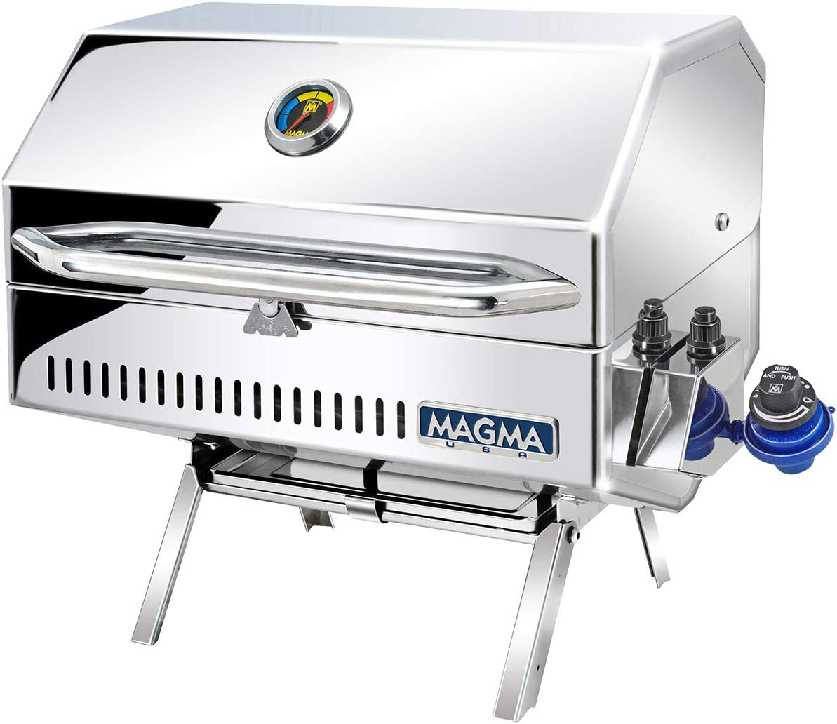 Magma Products Catalina 2 Gourmet Series Gas Grill, Polished Stainless Steel