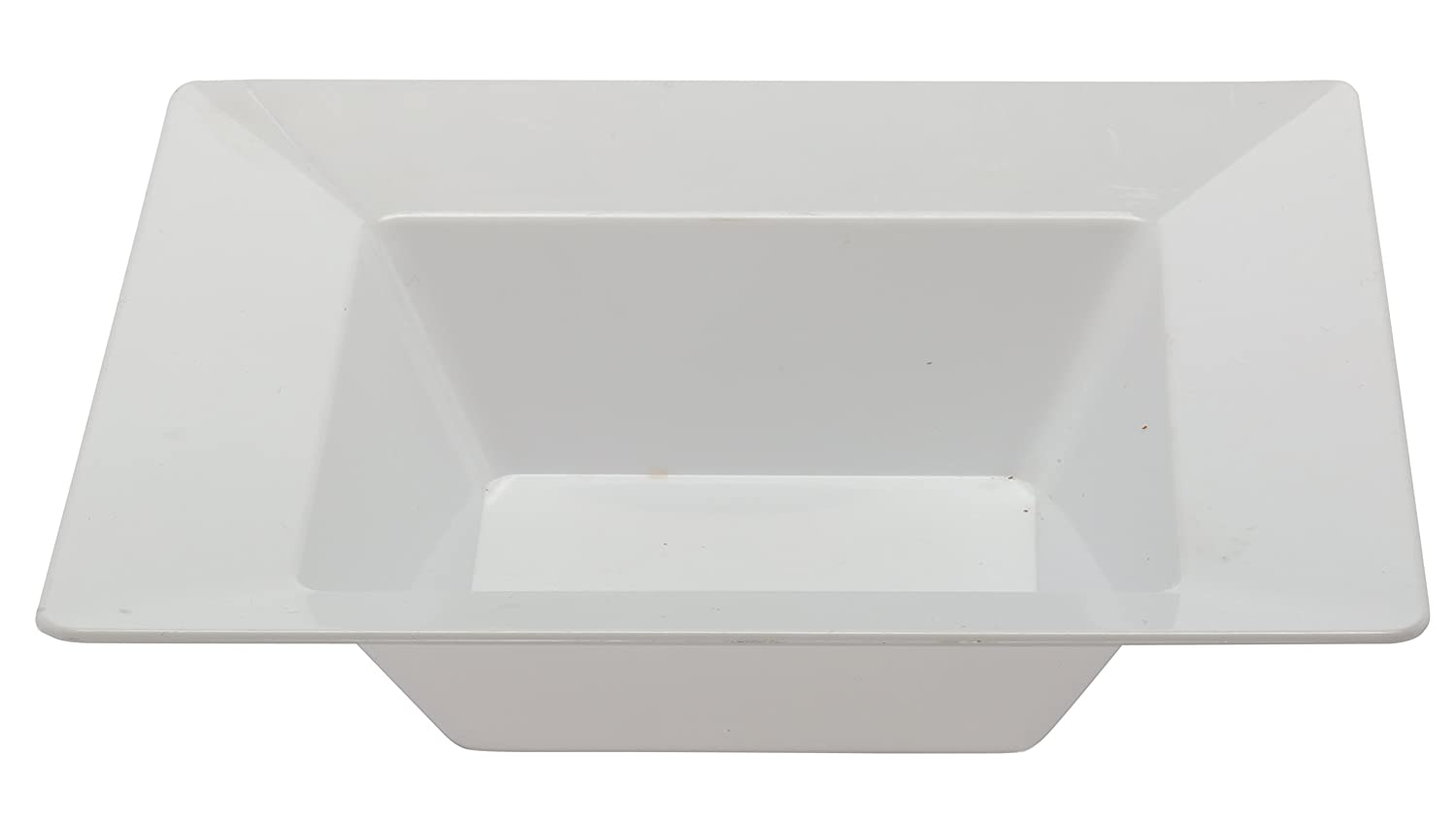 Table To Go 200 Piece Plate Set, Square Pearl Design, White 710228905697