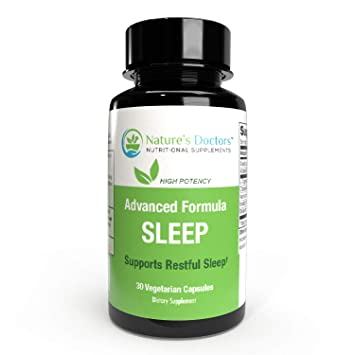 Natures Doctors Natural Sleep Aid with Melatonin & Valerian– Deep Sleep Supplement, Insomnia Relief