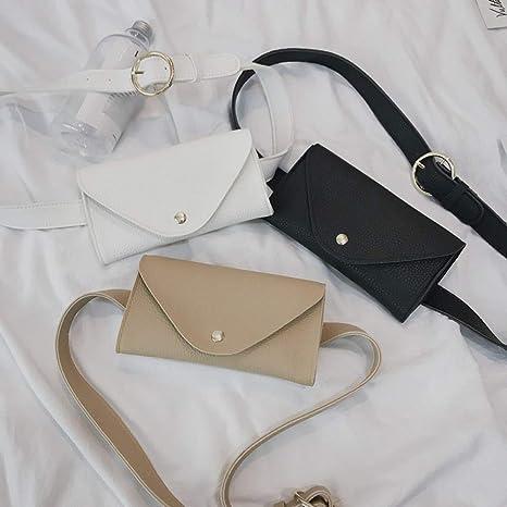 Amazon.com: Culturemart Fashion Women Pure Color Splice Leather Messenger Shoulder Bag Chest Bag Zipper Thead Fanny Pack Women Waist Bag: Kitchen & Dining