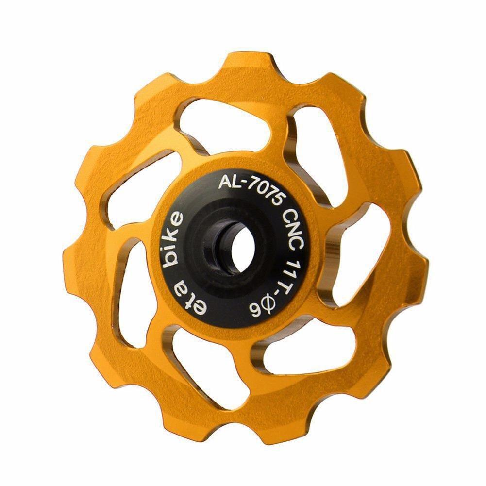 der keramisches Material tr/ägt Alu St/ützrad Fahrrad hinten Schaltwerk Riemenscheibe Lager Spannung F/ührungsrad Fahrrad-Schaltwerk-Schaltwerk-Jockey-Rad 11T Zahn-Aluminiumlegierung CNC-Flaschenzug