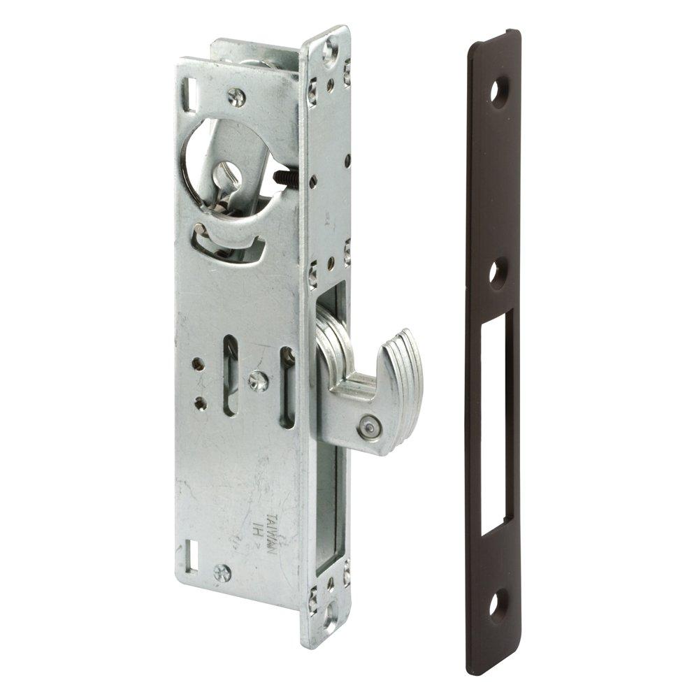 Prime-Line Products J 4559 Hook Style Door Mortise Deadlock,  Bronze Finish