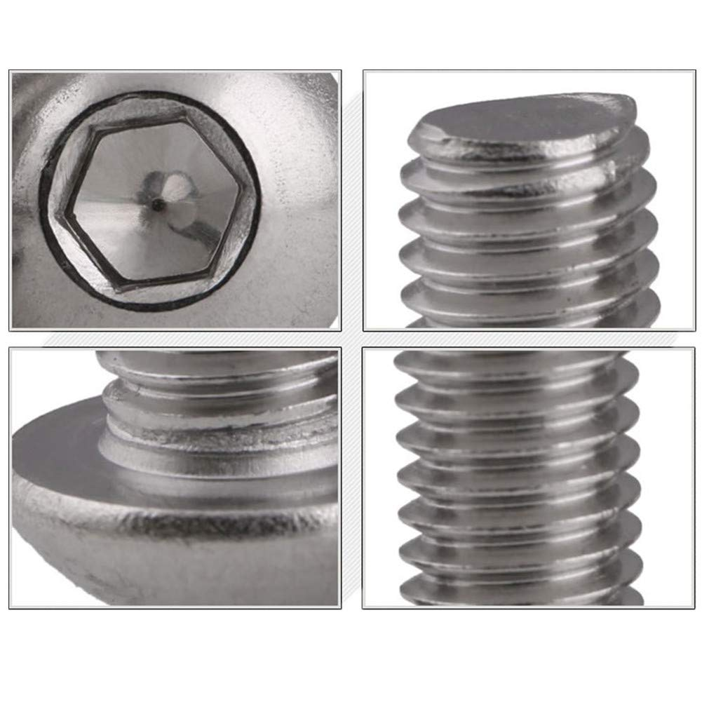 Allen Hex Drive by Fullerkreg M6-1.0 x 35 mm Button Head Socket Cap Screws Come in a Plastic Case ISO7380 Quantity 25 18-8 Stainless Steel
