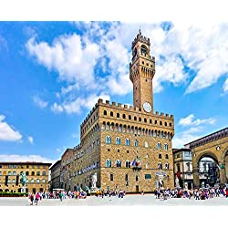 "Vecchio Town Hall In Florence Italy Europe Art Poster 14"" X 12"""