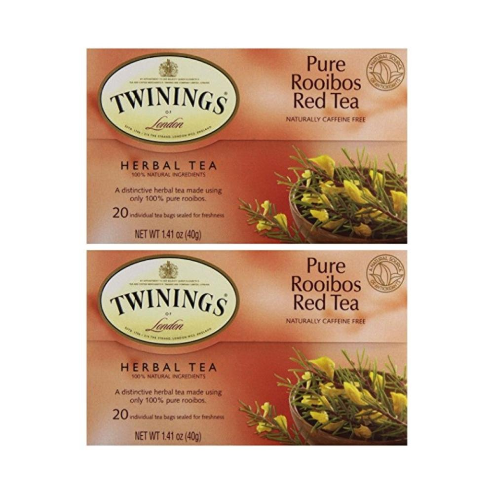 Twinings Tea Red African Rooibos Tea, 20 ct (Pack of 2) 20 ct (Pack of 2)