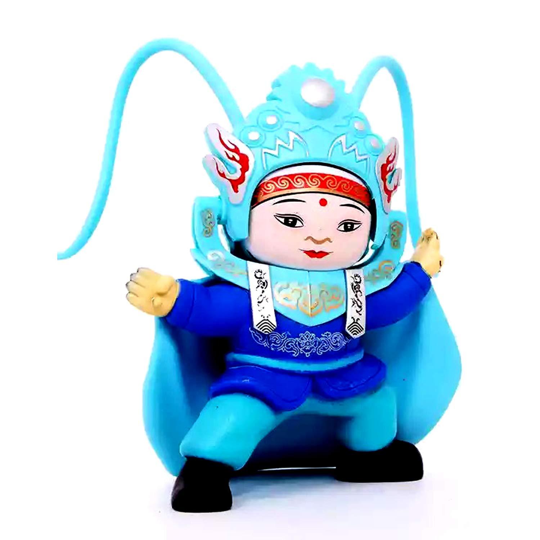Jollymap Face Changing Doll Beijing Opera Sichuan Bianlian Chinese Traditional Culture Folk Art Change Face Toy Gift-Blue
