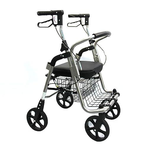 LHY-Andador Rollator Walker De Cuatro Ruedas con Asiento ...