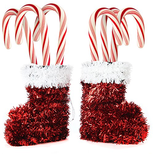Outdoor Lighted Santa Boots - 7