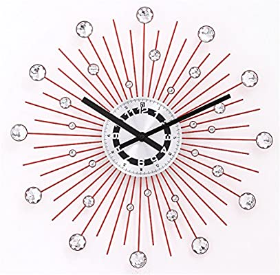 AIZIJI La Super Estrella Reloj de Pared de Hierro Creativo Arte Arte Moderno Silencio Relojes Reloj de Pared Dibujo Jong-Continental /50cm Reloj de Pared