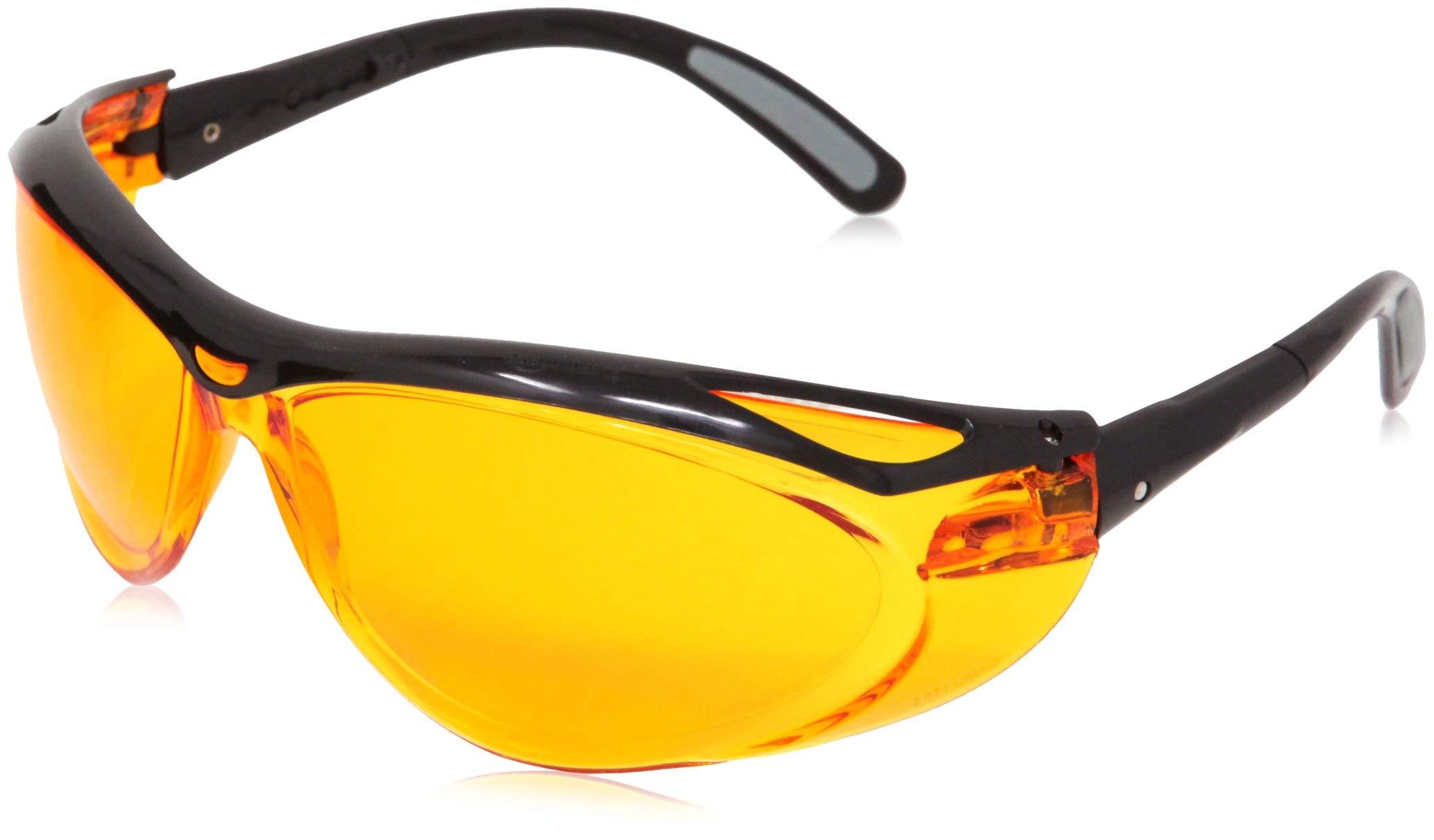 AmazonBasics Blue Light Blocking Safety Glasses, Anti-Fog, Orange Lens, 12-Count by AmazonBasics (Image #5)
