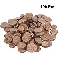 DOITOOL 100 piezas rodajas de madera circulos