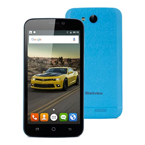 Blackview A5 Quad-core 4.5 Zoll 3G-Smartphone Android 6.0 1GB+8GB Dual Kamera Gesture Wifi Bluetooth GPS FM Blau