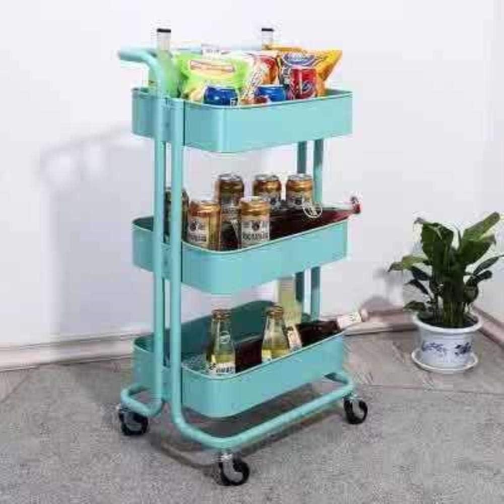 Tres trae el nivel del suelo del camión cocina móvil en capas vegetales bastidores de almacenamiento en rack niño,azul,H870 * W450 * D350mm: Amazon.es: Hogar